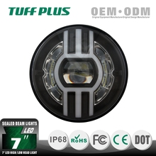 7 inch Round LED high/low beam headlight, projector + reflector sealed beam headlight, Harley Jeep Wrangler LED headlight