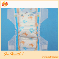Daily cloth film cute disposable baby diaper wholesale