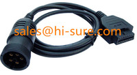 deutsch connectors J1708 to OBD2 female connector for heavy truck diesel engine diagnostic scanner