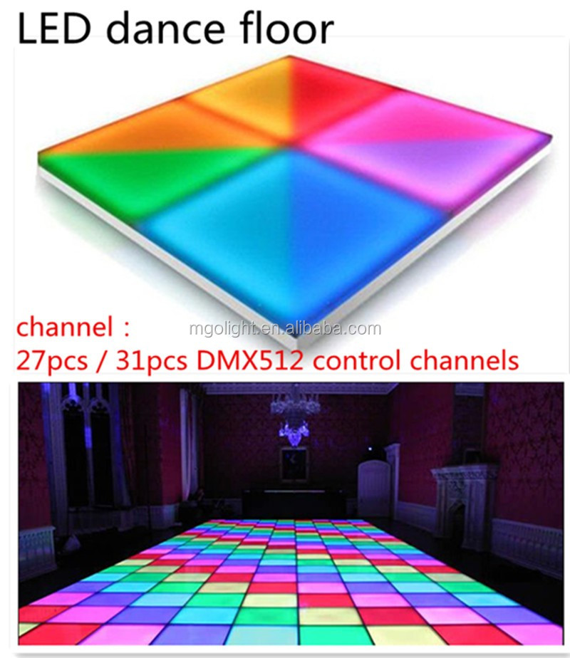 Portable Lighted Dance Floor : Leds interactive portable led dance floor rechargeable