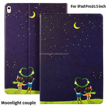 Anto Sleep/Wake Fuction Joy Color Print Protective Tablet Case/Cover For Ipad Pro 10.5