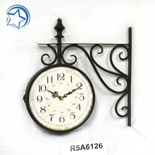 Both Side Railway Hanging Clock Promotion Gift
