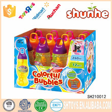 Plastic 260ml colorful soap bubble toy