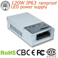 manufacturer outlet constant voltage rainproof power supply 24v 5a 120w led driver IP63