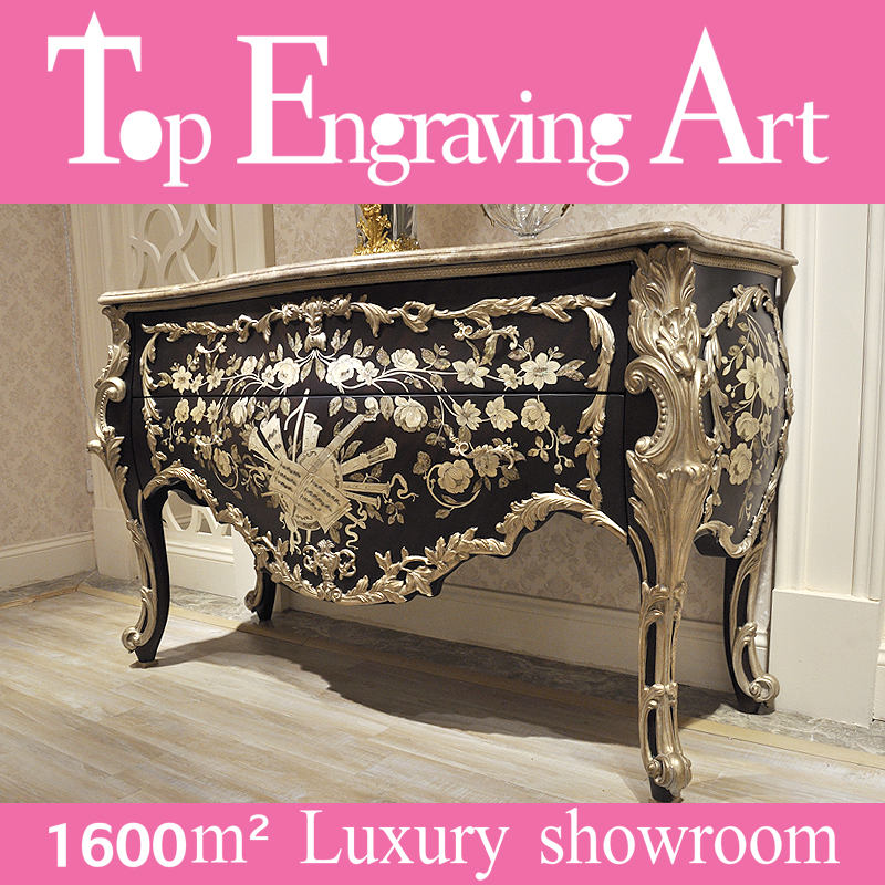 luxury carved living room furniture classic antique baroque console table