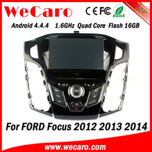 Wecaro WC-FF7305 Android 4.4.4 car dvd 1024*600 car multimedia player for ford focus 2012 2013 2014 BT gps