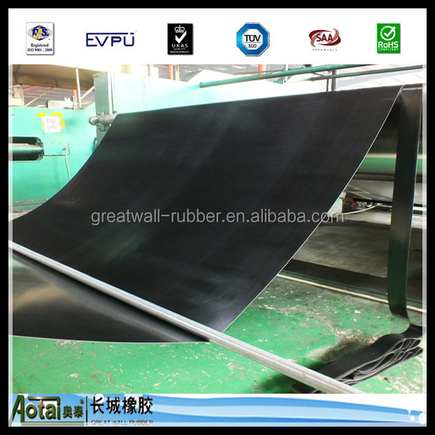 GRETA WALL RUBBER COMPANY manufacture 3-20 Mpa good quality SBR/EPDM/NBR/CR Rubber Sheet