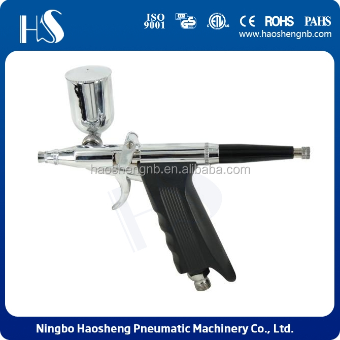 HS single-action trigger airbrush with Air Compressor for hobby and mural