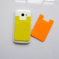True 3M Glue Mobile Phone Silicone Business Card Holder Waterproof Wallet Pouch