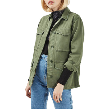 New fashion army winter jacket 100% cotton cool design clothing for women