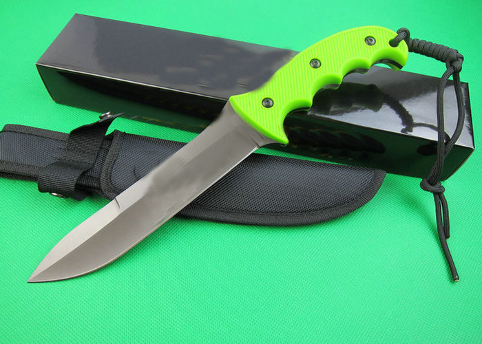 OEM tactical survival knives fixed blade hunting knife outdoor tool hand 5Cr15Mov 57HRC blade ABS handle 1589