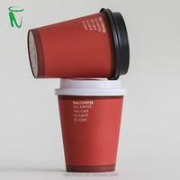 single wall disposable coffee paper cup manufacture with lids 8oz 270ml