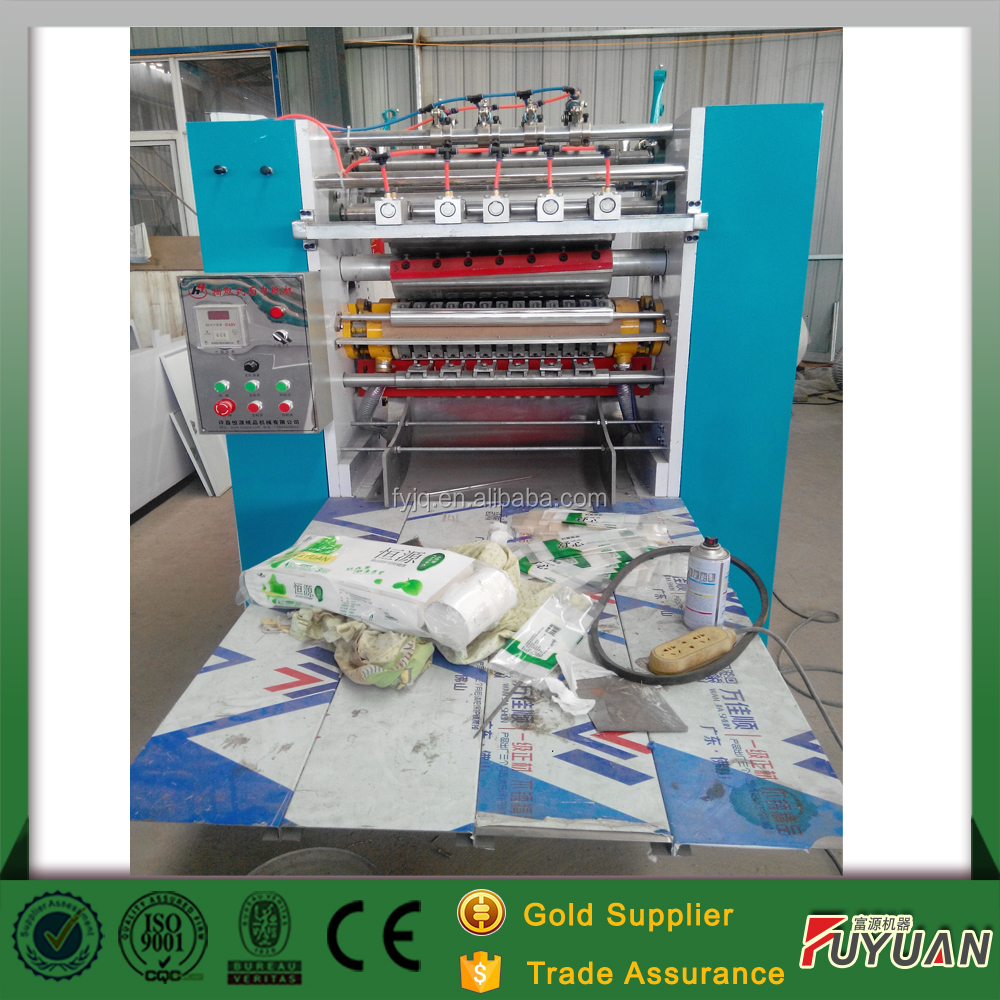 V folding type face paper further processing equipment small business