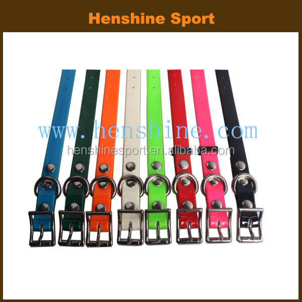 Colorful metal buckle durable training dog collars
