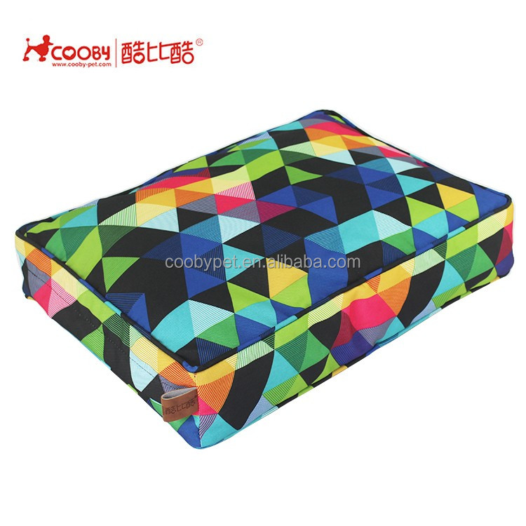 Trade assurance Detachable colorful print luxury pet products elegant dog bed