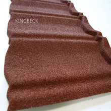 Colorful sand coated metal roof tiles for prefabricated house