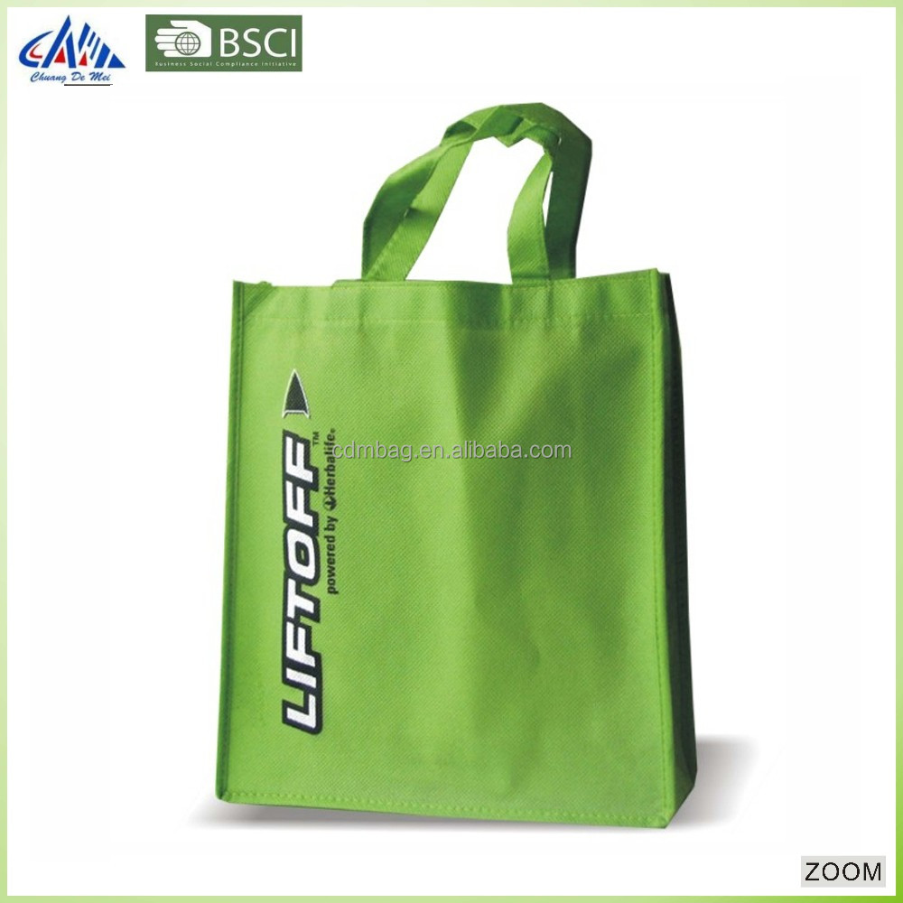 No lamination pp non woven shopping tote bag non woven grocery bag