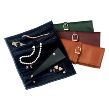 high quality travelling leather jewelry case with genuine suede ling