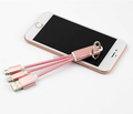 3in1 USB charging cable keychain charging for Iphone samsung
