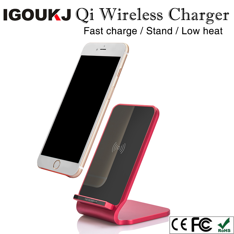 Free shipping new Metal design new arrival 2coils qi wireless fast charger for samsung s9 for iphone 8 X quick charger pad