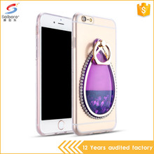 Personalized jewel design tpu liquid case for iphone 7