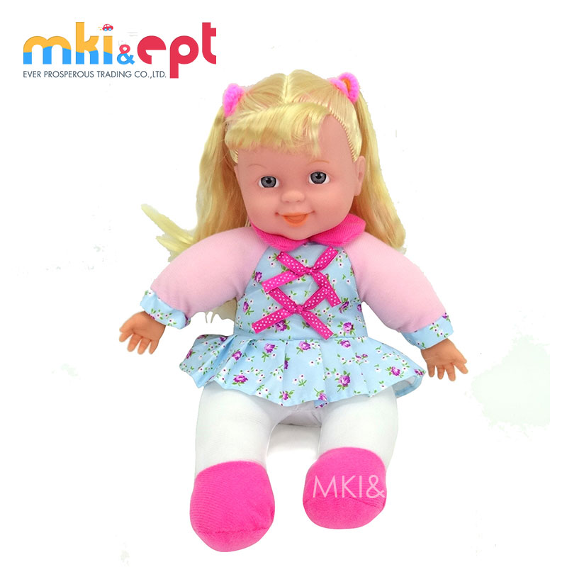 Plush mini real doll with vinyl head & hands & ic
