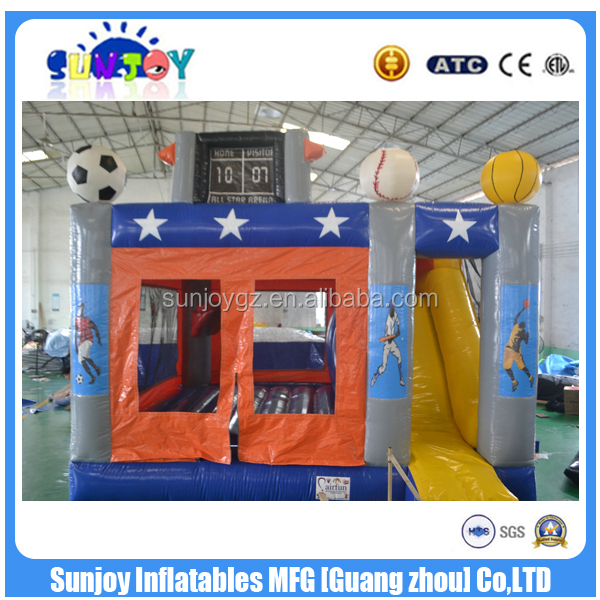 SUNJOY 2016 new designed inflatable combo, new inflable product, inflables sports for sale