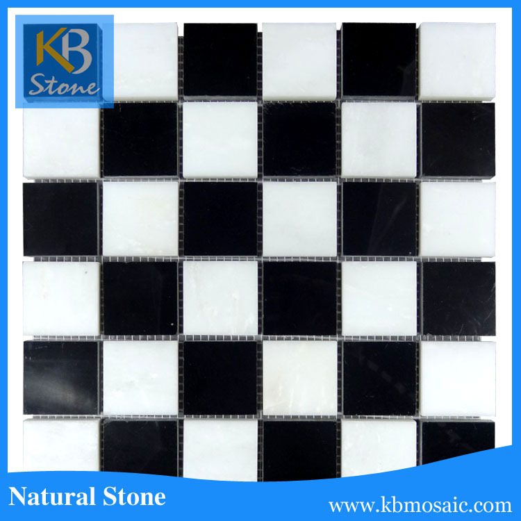 Good Quality Marble Black and white marble mosaic bath tile