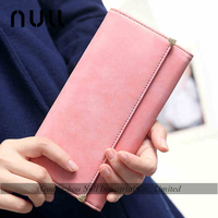 Fashion beautiful materials new model purses pu leather wallet