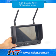 7 inch FPV Monitor 32CH Built-in 5.8GHz Wireless AV Receiver No blue screen Compatiable with Fatshark,airwave,Immersionrc