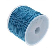 New 1mm waxed cotton cord with plastic spool cheap price round wax cotton