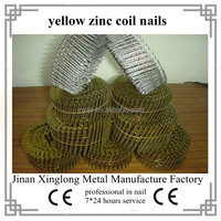color galvanized flat head coil nails 2.3*45