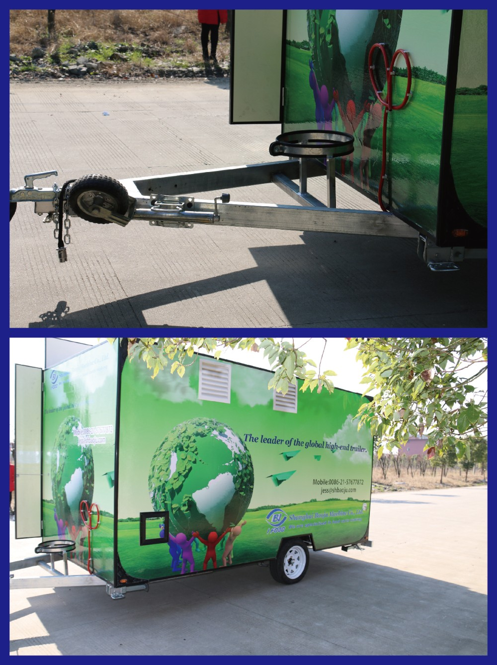 New style food van with drawbar