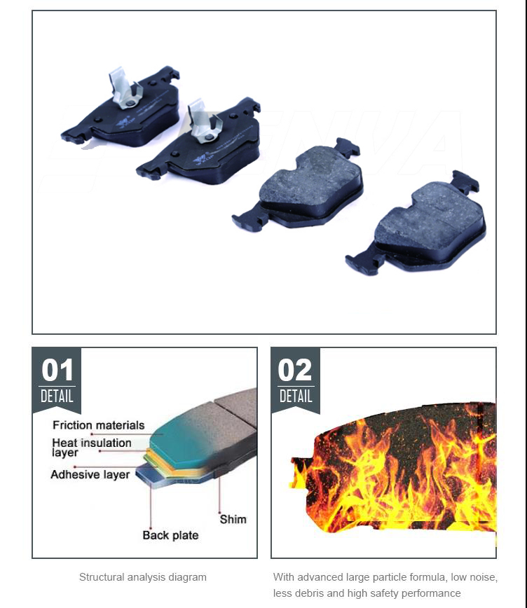 Rear Brake Pads For 3 SERIES E34 E36 34216761239