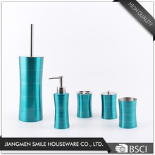 High end apartment blue painting bathroom accessory set