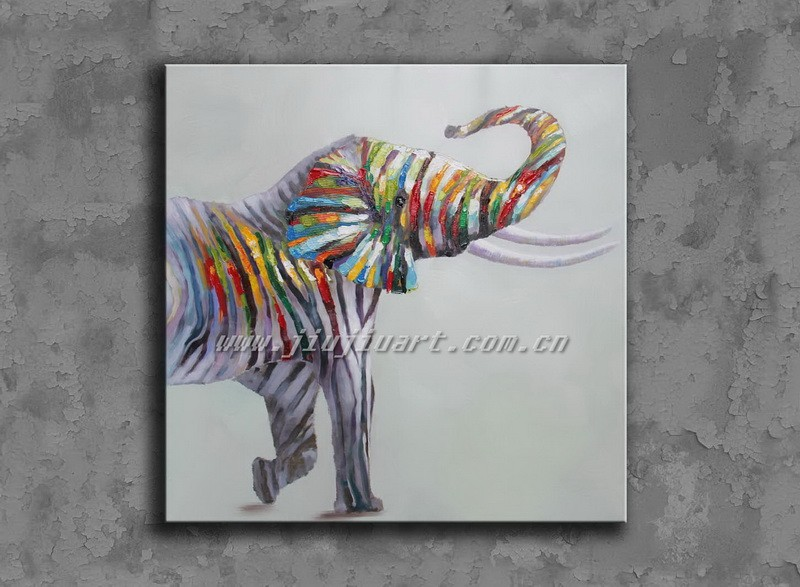 Handpainted Elephant oil painting on canvas