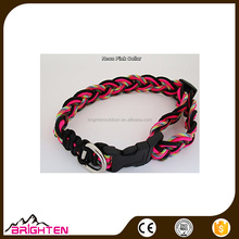 Cute Paracord Pet Dog Collar metal buckle for Large Dogs and Small Dogs