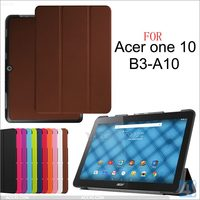 Tri Fold Crazy Hourse PU Leather Case for ACER Iconia one 10 B3 A10