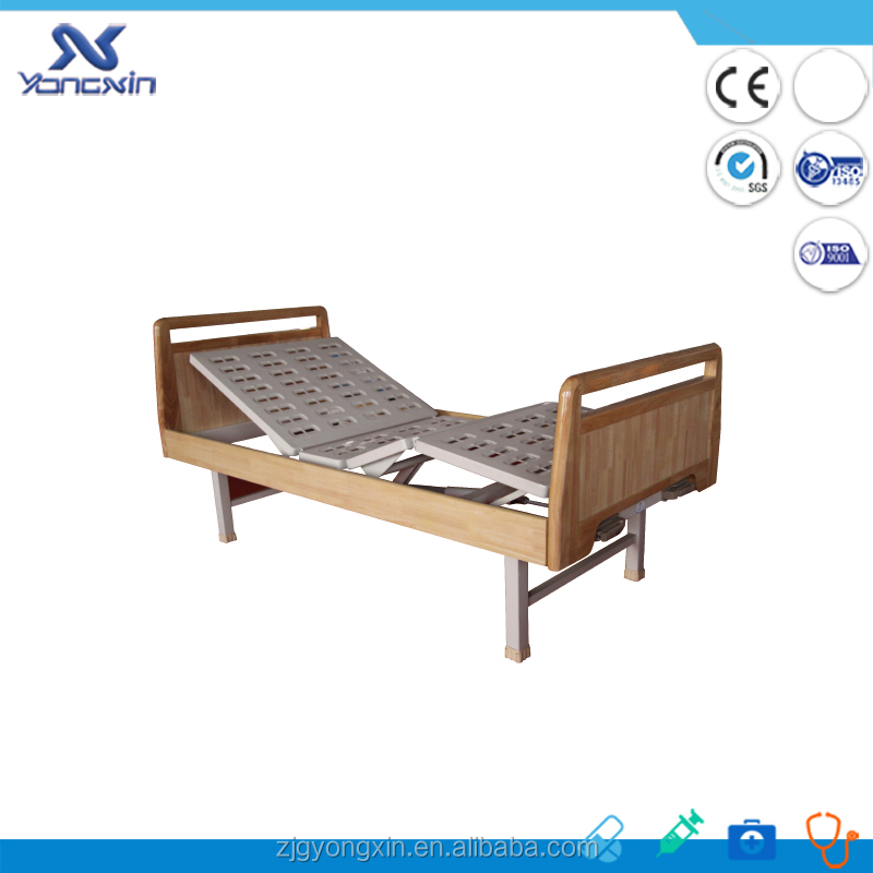 Hydraulic manual hospital restraint beds, wooden bed