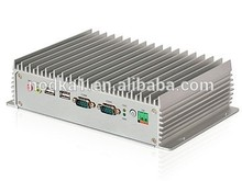 Industrial fanless mini PC,Intel Atom D2500 dual-core processor,2*RJ45,6*USB,6*RS232/RS485,,Mini-PCIe