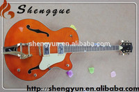 L Shengque Acoustic Guitar Flamed Maple Top Electric Guitar Archtop Guitar