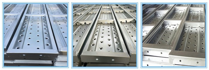 Q235 Punched Pre Galvanized Metal Deck For Scaffoldings