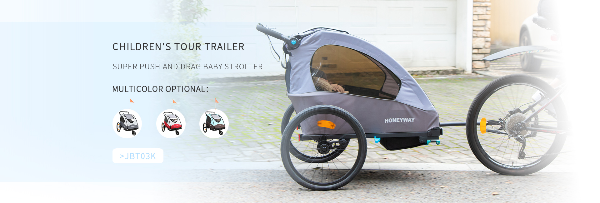 2019 Luxury Baby bicycle trailer jogger