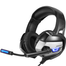 Best Gaming Headset Gamer Deep Bass Gaming Headphones for PS4 Computer PC Laptop with Microphone LED Noise Cancelling MK2706