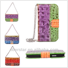 Stylish Color Crocodile Handbag Leather For Apple iPhone 5 5s Wallet Holster Flip Cover Case