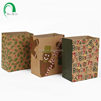 Accept Custom Order paper brown kraft shopping bag with logo print