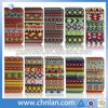 Fashion design aztec tribal pattern back leather case cover for galaxy s4 mini