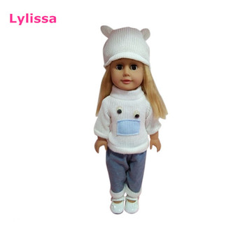 Wholesale PVC Material 18 Inch Girl Dolls with Beautiful Cloth