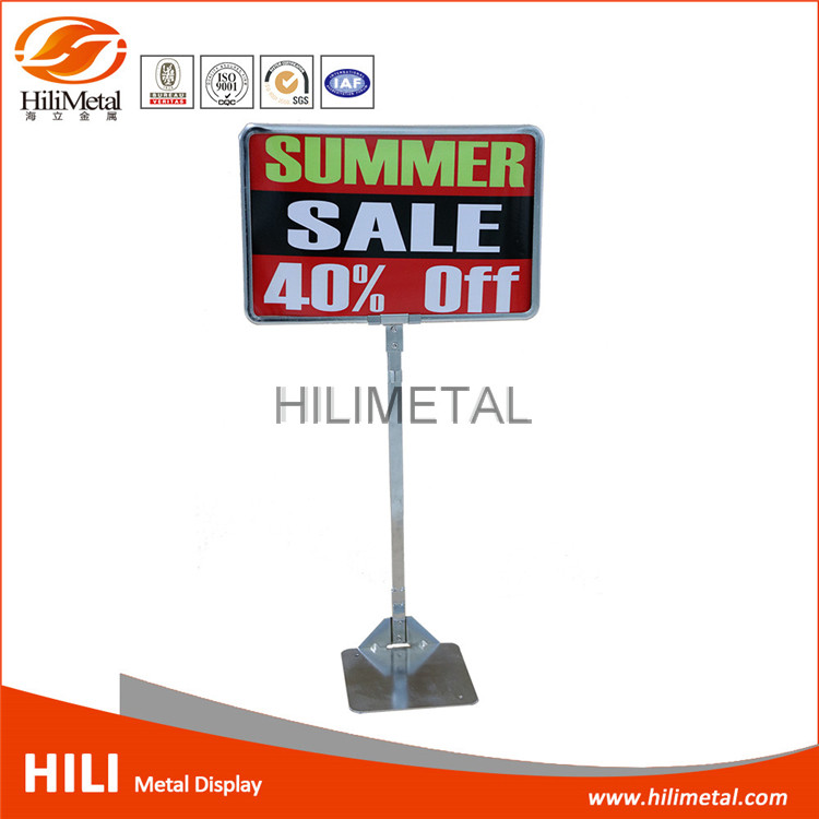 Aluminium frame paper card advertising sign display holder
