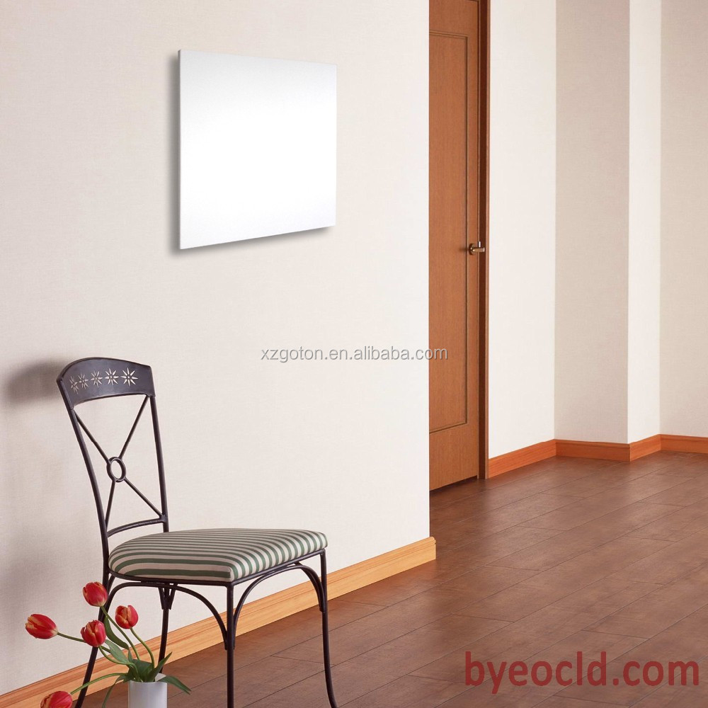 white IR heating panel frameless wall mounted heater